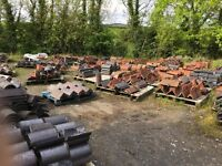 Large quantity of ridge tiles