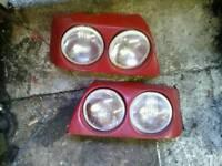 Twin headlights