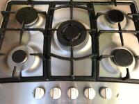 5 burner gas built in hob