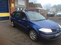 2007 Renault Megane 1.6 estate 12 months mot/3 months parts and labour warranty