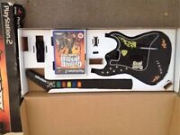 Guitar Hero three, Legends of Rock. Game and guitar controller for PS2. GOOD CONDITION
