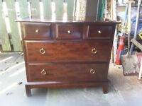 For SALE 5 DRAWER STAG MINSTREL CHEST of DRAWERS