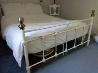 Lovely vintage style metal bed frame and mattress