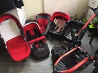 Complete Jane trider pram car seat travel system plus strata isofix car seat
