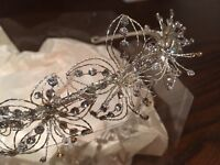 Linzi Jay bridal tiara and matching hairpins