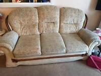 3 seater sofa and x2 arm chairs