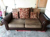 Very large 2 seater sofa. GC delivery possible for fuel costs. Please tell or text 077841322.thanks