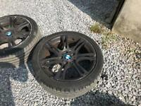 18inch BMW msport alloy wheels with very good tyres.
