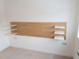 Modern headboard with shelves