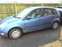 Ford fiesta 02 Spares or repairs