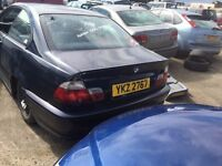 2001 BMW 318ci se, 1.9 petrol, breaking for parts only, all parts available