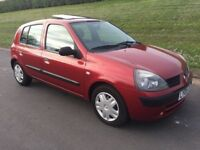 2005 RENAULT CLIO 1.2 EXPRESSION, 1 FAMILY FROM NEW,M.O.T TO FEBRUARY 2018, GENUINE 66.000 MILES #