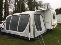 Air awning for caravan