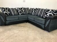 Grey Harvey's corner sofa, couch, suite, furniture 🚚🚛🚚