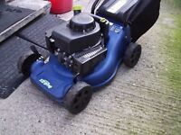 petrol lawn mower in perfect working order