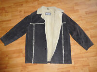 Suede Leather Jacket, mens, size L