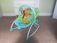 Bright Starts baby bouncer (suitable from birth to toddler)