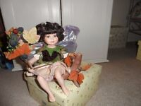 Alberon Flower Fairy Porcelain Doll - Certificate of Authenticity