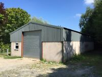 Secure Storage Garage, Approx 1800 sq ft to rent, near Umberleigh, serviced.