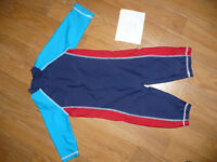 Mothercare sunsafe 1-piece full body swimsuit/ wetsuit for boy 12-18 mths.