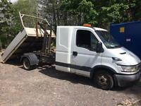 2005 iveco daily 3.5t chassis cab with sleeper pod recovery project