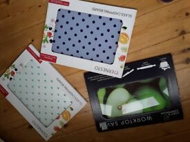 Glass chopping board choice of 3 styles