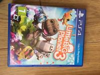 Big little planet 3 PS4 game