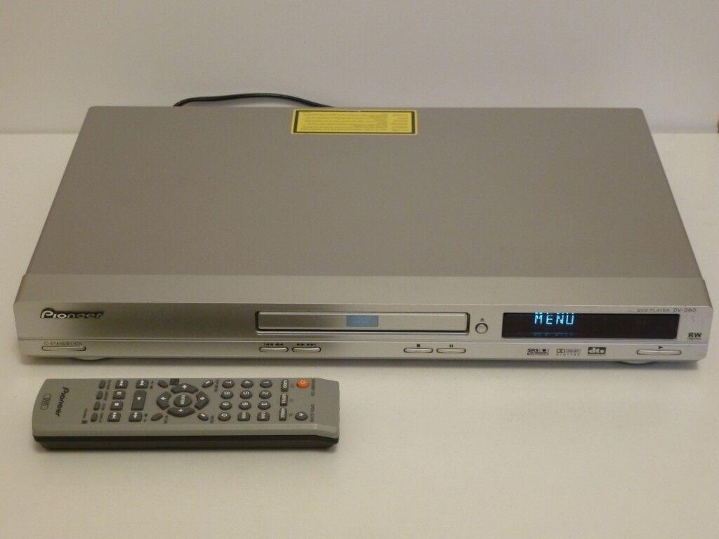 PIONEER DV-360 MULTI REGION/REGION FREE DVD PLAYER WITH REMOTE, SCART LEAD  & MANUAL
