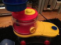 Rotastak multi colour hamster or small animal cage setup with wheel multi colour