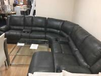 Large Charcoal Grey Corner Sofas