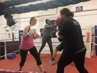 Weekly Boxing fitness exercise class in town centre