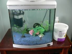 Tropical Fish Aquarium Complete with Pump/Filter, Lights and Heater
