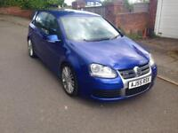 2006 55reg Volkswagen Golf R32 Blue 5 Door Top Spec 250bhp