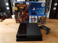 PS4 with 2 games and upgraded 1tb hard drive (boxed)