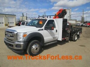 2011 ford F-550 XLT 4X4, PICKER + SERVICE DECK!!!