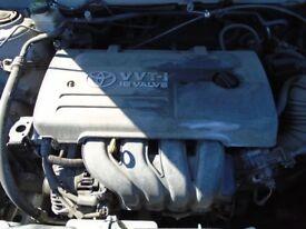 Toyota Corolla Complete Engine T3 VVTI 1.6 Petrol 2007 Code 3ZZ-FE