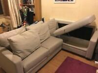 Hygena Seattle Fabric Right Hand Corner Sofa Bed