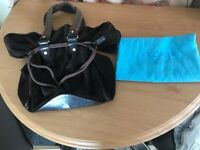Escada original brown suede and leather bag. Hobo style with dust bag £50 Ono