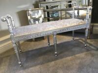 NEW craftsman made velvet stool