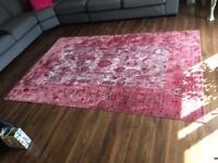 Beautiful pink aqua silk rug purchased from modern rugs