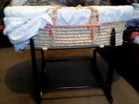 Mamma and Pappas moses basket great condition