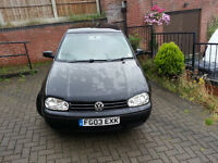 VW Golf S TDI. 1.9 Diesel. Black. Very good condition.
