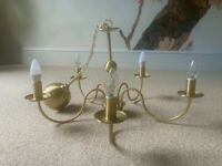 Beautiful gold chandelier