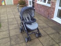 SILVER CROSS PUSHCHAIR / CARRY COT - newborn to toddler