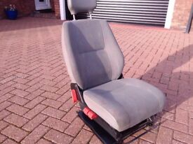 Drivers seat VW VAN unmarked tiny burn out of Lt 45 3 red buttons grey fleck trim