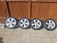 "Volkswagen Genuine 17"" Alloy Wheels with NEW Tyres"