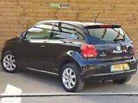 Volkswagen Polo 1.4 Match 3dr ONE PRIVATE OWNER (deep black) 2011