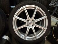 """FORD 18"""" 4stud (4x108) ALLOYS JUST BEEN REFURBISHED GUD TYRES NO CRACKS BUCKLES MINT COND £275ono"""