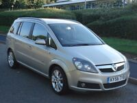 2006 vauxhall zafira 1.9 cdti 150 bhp design low mileage 7 seats 56 reg px possible
