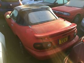 Mazda mx5 mk1 1.6 auto red, red leather, Eunos dandycars mark 1